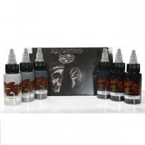 World Famous Ink - A.D. Pancho Pastel Grey Set 6 x 30 ml