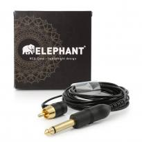 Elephant - Lightweight Cinch/RCA Kabel - abgewinkelt -schwarz-