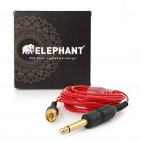 Elephant - Lightweight Cinch/RCA Kabel - gerade  -rot -