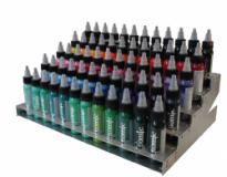 Farbflaschenständer aus V2A (Atomic Ink)