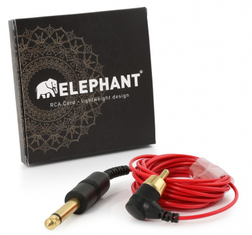 Elephant - Lightweight Cinch/RCA Kabel - abgewinkelt  - rot -