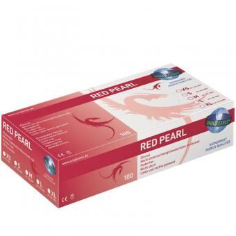 """Größe M Unigloves """"Red Pearl """"  Nitril red 100 Stk."""
