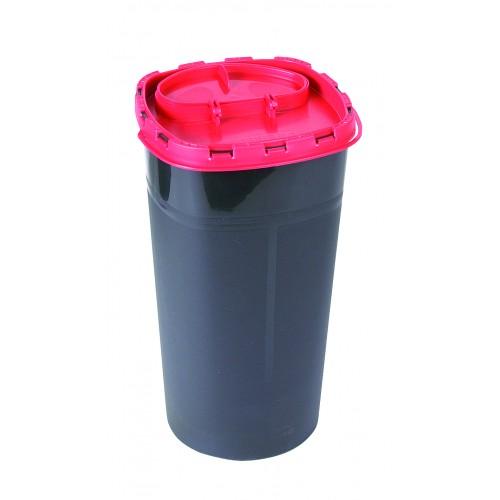 Abwurfbehälter  rund, schwarz, 3,0 Liter