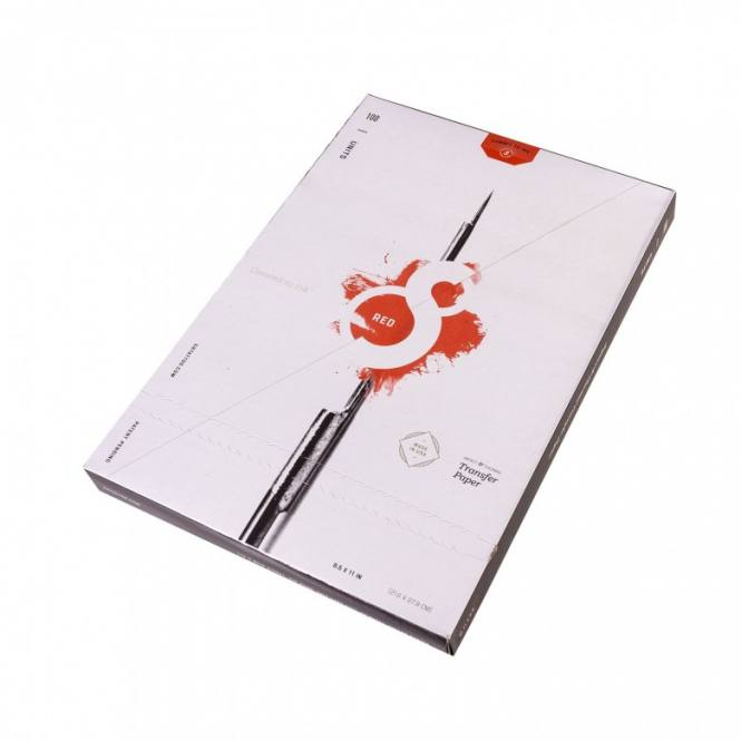 S8 Red - Vorlagenpapier 100 Blatt (21,6 x 27,9cm)